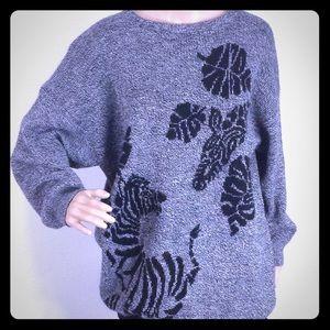 Vtg Giraffe Sweater/ Sweater Dress Size L/XL